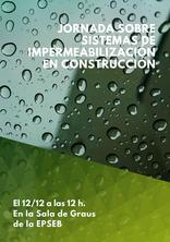 Jornada sobre sistemes d'impermeabilització en construcció