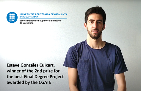 Esteve Gonzàlez Cuxart wins the 2nd prize for the best Final Degree Project at CGATE