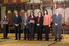 Firefighters of Barcelona awards a distinction to Fire Lab at EPSEB