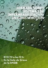 Jornada sobre sistemas de impermeabilización en construcción