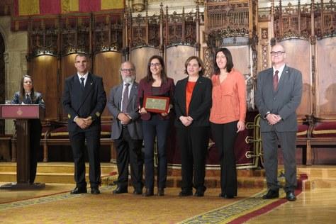 Bomberos de Barcelona otorga una distinción al Laboratorio del Fuego de la EPSEB